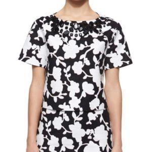 NWOT Kate Spade Floral Embellished Cropped Top